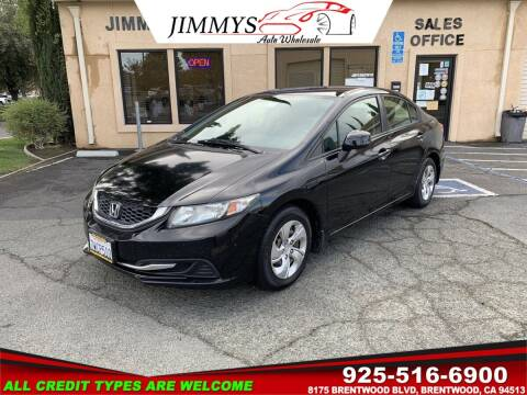 2013 Honda Civic for sale at JIMMY'S AUTO WHOLESALE in Brentwood CA