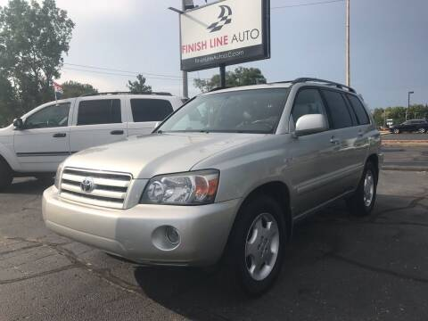 2005 Toyota Highlander for sale at Finish Line Auto in Comstock Park MI