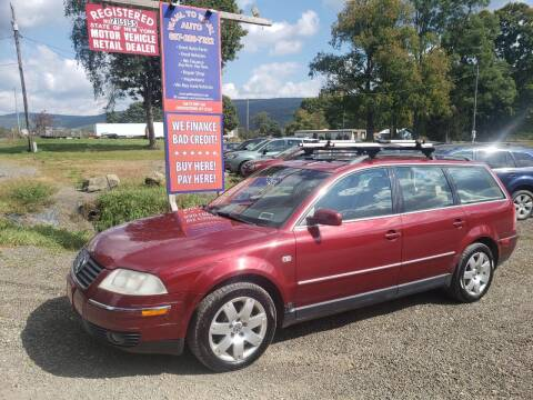 2001 Volkswagen Passat for sale at Wahl to Wahl Auto in Cooperstown NY