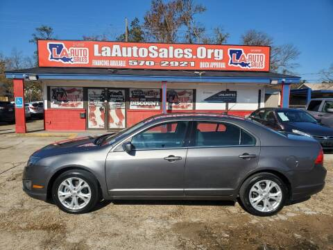 2012 Ford Fusion for sale at LA Auto Sales in Monroe LA