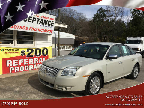 2008 Mercury Sable for sale at Acceptance Auto Sales Douglasville in Douglasville GA