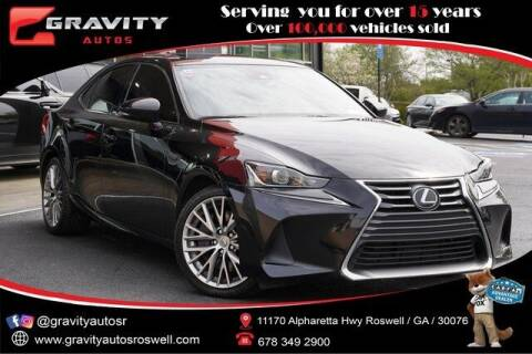 2017 Lexus IS 200t for sale at Gravity Autos Roswell in Roswell GA