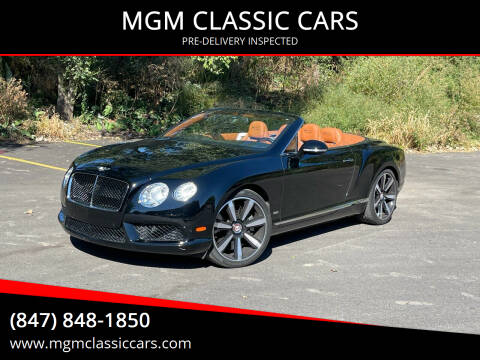 2013 Bentley Continental for sale at MGM CLASSIC CARS-New Arrivals in Addison IL