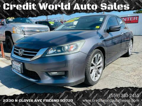 2015 Honda Accord for sale at Credit World Auto Sales in Fresno CA