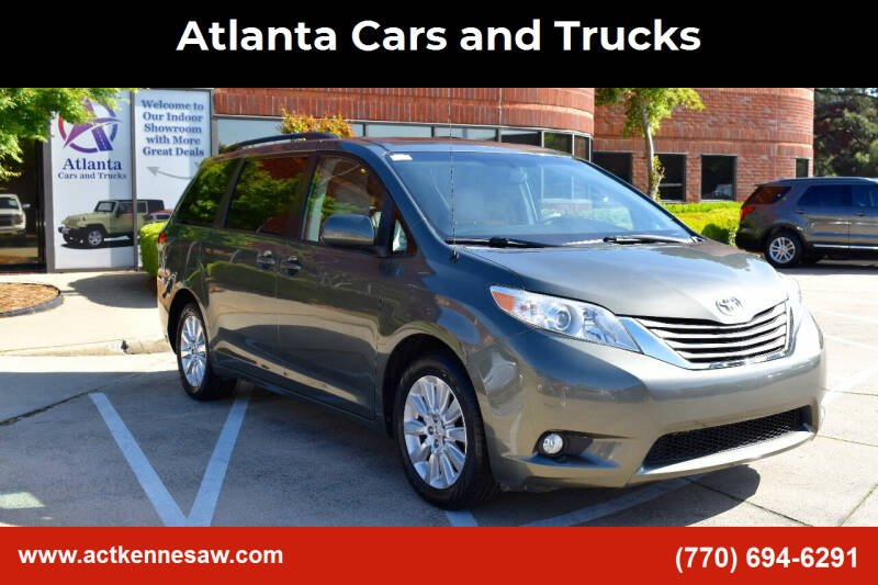 2012 Toyota Sienna for sale at Atlanta Cars and Trucks in Kennesaw GA