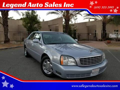 2004 Cadillac DeVille for sale at Legend Auto Sales Inc in Lemon Grove CA