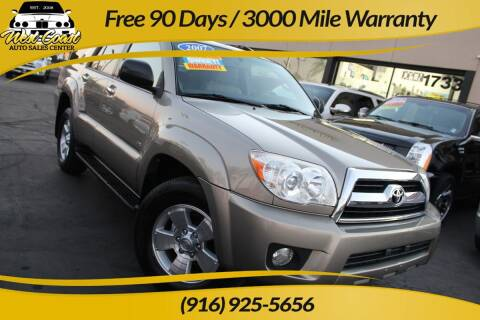 2007 Toyota 4Runner for sale at West Coast Auto Sales Center in Sacramento CA