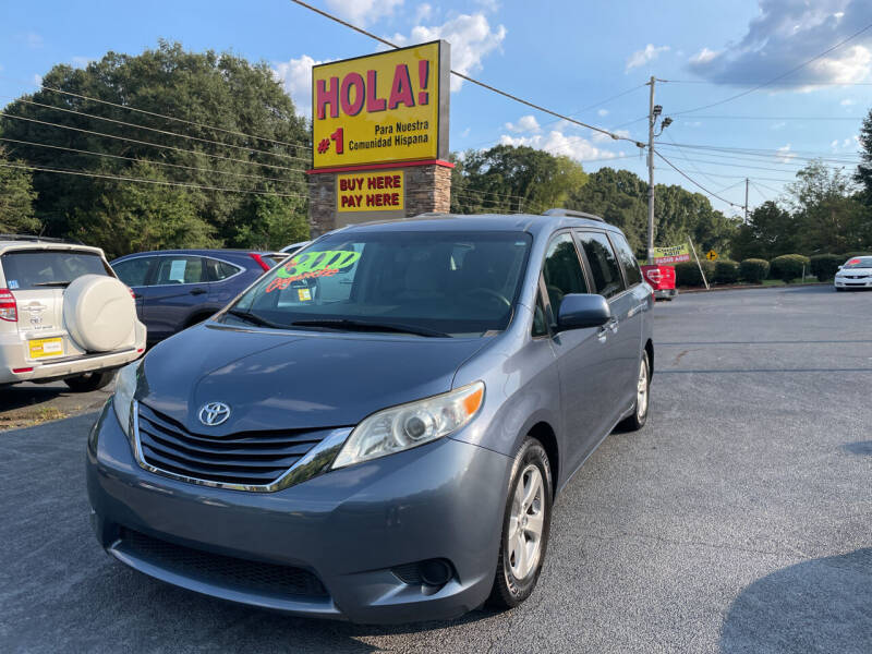 2015 Toyota Sienna for sale at No Full Coverage Auto Sales in Austell GA