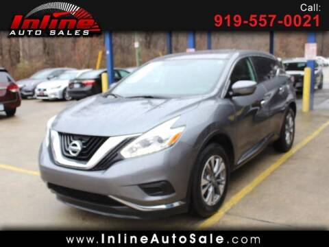 2017 Nissan Murano for sale at Inline Auto Sales in Fuquay Varina NC