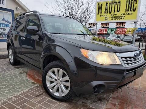 2011 Subaru Forester for sale at M AUTO, INC in Millcreek UT
