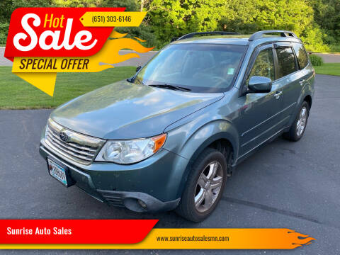 2010 Subaru Forester for sale at Sunrise Auto Sales in Stacy MN