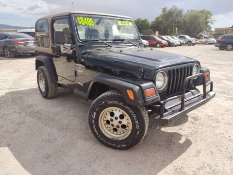 1999 Jeep Wrangler for sale at Canyon View Auto Sales in Cedar City UT