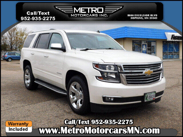 2015 Chevrolet Tahoe for sale at Metro Motorcars Inc in Hopkins MN