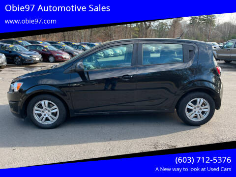 2012 Chevrolet Sonic for sale at Obie97 Automotive Sales in Londonderry NH