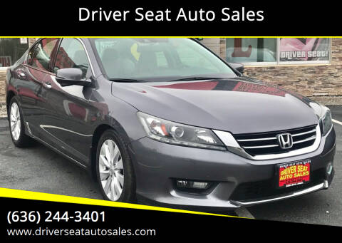 2014 Honda Accord for sale at Driver Seat Auto Sales in St. Charles MO