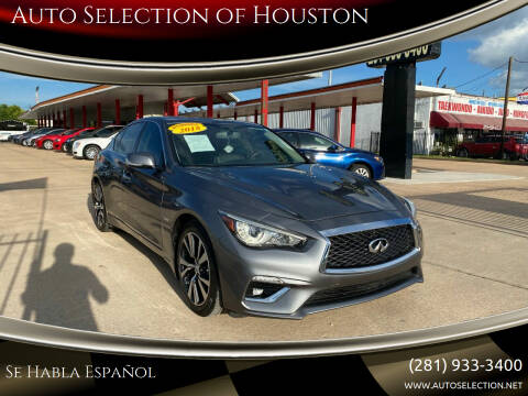 2018 Infiniti Q50 for sale at Auto Selection of Houston in Houston TX