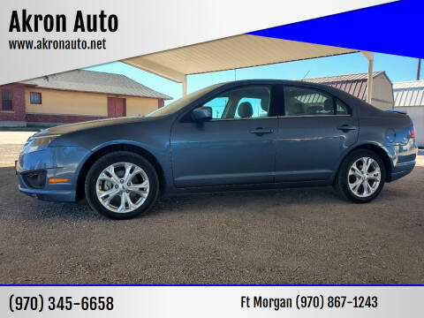 2012 Ford Fusion for sale at Akron Auto - Fort Morgan in Fort Morgan CO