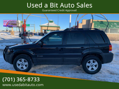 2007 Ford Escape Hybrid for sale at Used a Bit Auto Sales in Fargo ND