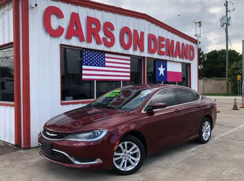 2016 Chrysler 200 for sale at Cars On Demand 3 in Pasadena TX