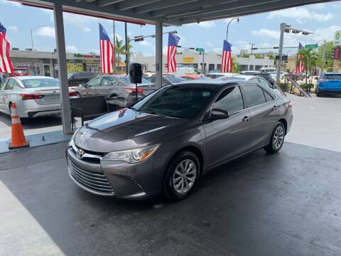 2015 Toyota Camry for sale at American Auto Sales in Hialeah FL