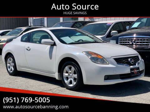 2008 Nissan Altima for sale at Auto Source in Banning CA