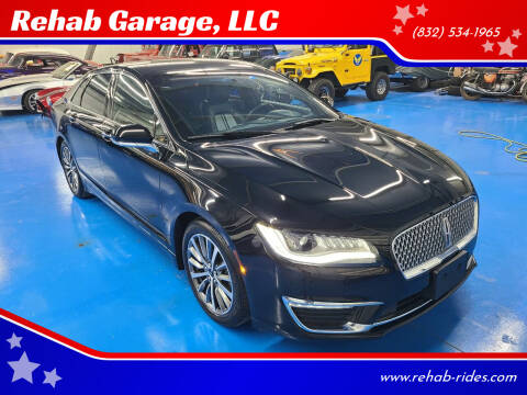 2017 Lincoln MKZ for sale at Rehab Garage, LLC in Tomball TX