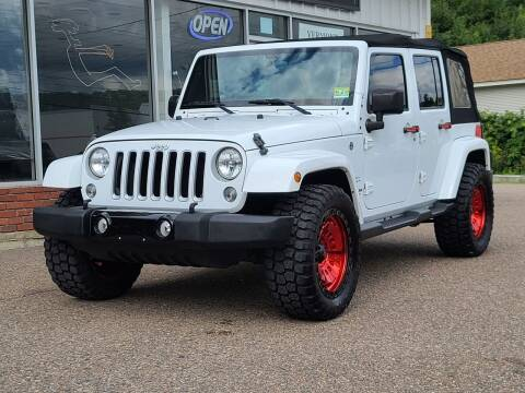 2016 Jeep Wrangler Unlimited for sale at Green Cars Vermont in Montpelier VT