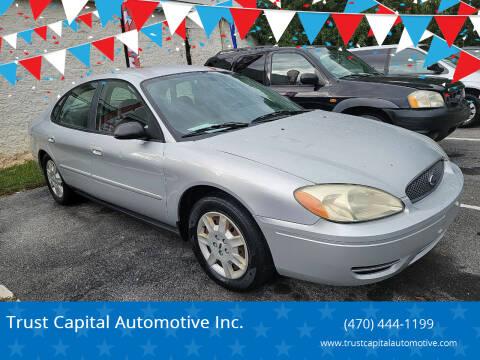2007 Ford Taurus for sale at Trust Capital Automotive Inc. in Covington GA