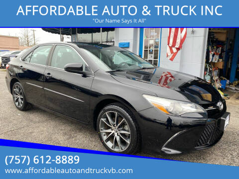 2016 Toyota Camry for sale at AFFORDABLE AUTO & TRUCK INC in Virginia Beach VA