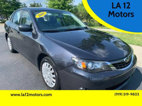 2008 Subaru Impreza for sale at LA 12 Motors in Durham NC
