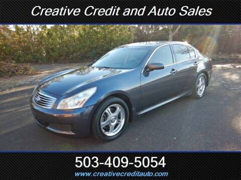 2008 Infiniti G35 for sale at Creative Credit & Auto Sales in Salem OR