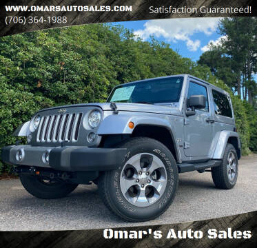 2018 Jeep Wrangler JK for sale at Omar's Auto Sales in Martinez GA