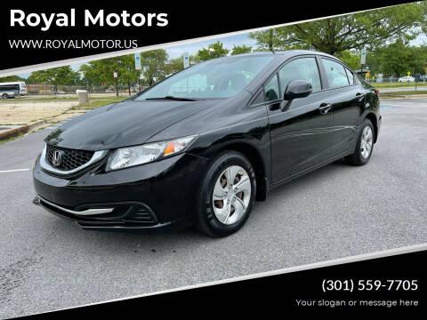 2013 Honda Civic for sale at Royal Motors in Hyattsville MD