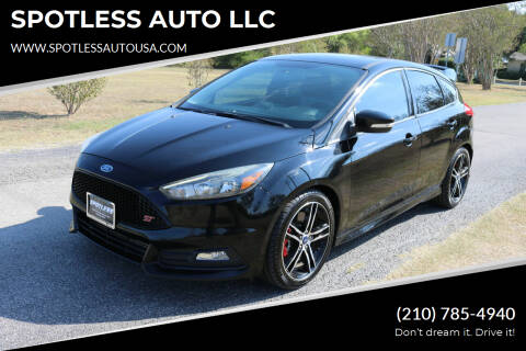 2016 Ford Focus for sale at SPOTLESS AUTO LLC in San Antonio TX