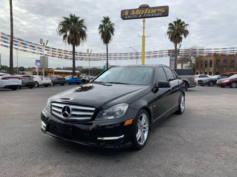 2012 Mercedes-Benz C-Class for sale at A MOTORS SALES AND FINANCE in San Antonio TX