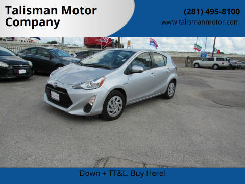 2016 Toyota Prius c for sale at Talisman Motor Company in Houston TX