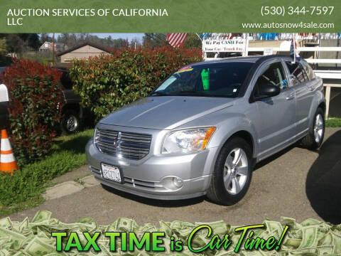 2011 Dodge Caliber for sale at AUCTION SERVICES OF CALIFORNIA in El Dorado CA