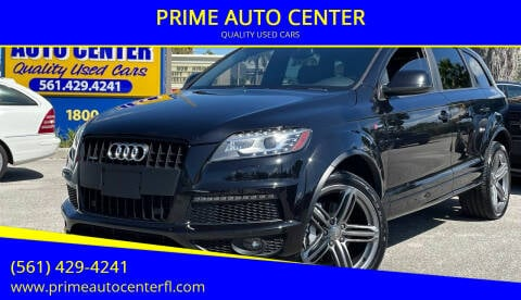 2014 Audi Q7 for sale at PRIME AUTO CENTER in Palm Springs FL