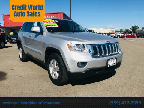 2012 Jeep Grand Cherokee for sale at Credit World Auto Sales in Fresno CA