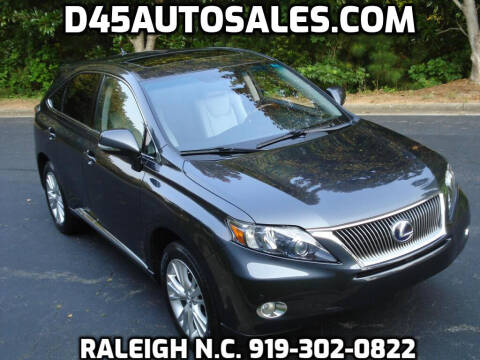 2011 Lexus RX 450h for sale at D45 Auto Brokers in Raleigh NC