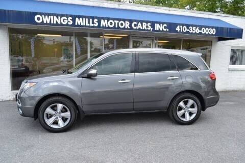 2012 Acura MDX for sale at Owings Mills Motor Cars in Owings Mills MD