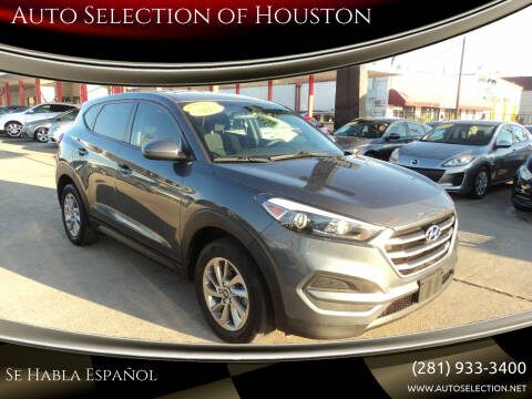 2018 Hyundai Tucson for sale at Auto Selection of Houston in Houston TX