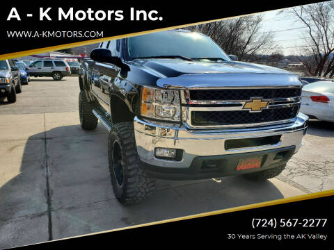 2011 Chevrolet Silverado 2500HD for sale at A - K Motors Inc. in Vandergrift PA