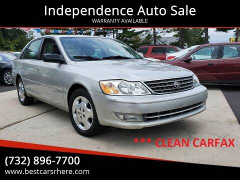 2004 Toyota Avalon for sale at Independence Auto Sale in Bordentown NJ