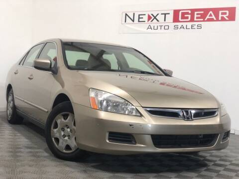 2006 Honda Accord for sale at Next Gear Auto Sales in Westfield IN