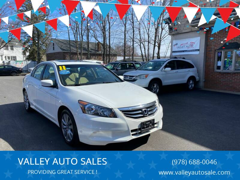 2011 Honda Accord for sale at VALLEY AUTO SALES in Methuen MA