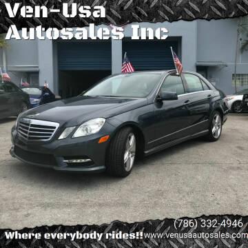 2013 Mercedes-Benz E-Class for sale at Ven-Usa Autosales Inc in Miami FL