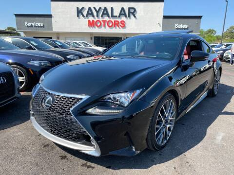 2015 Lexus RC 350 for sale at KAYALAR MOTORS in Houston TX