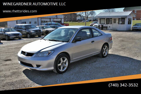 2005 Honda Civic for sale at WINEGARDNER AUTOMOTIVE LLC in New Lexington OH