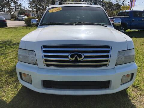 2005 Infiniti QX56 for sale at Greenville Motor Company in Greenville NC